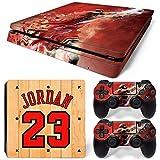 GoldenDeal PS4 Slim Console and DualShock 4 Controller Skin Set - Basketball NBA - PlayStation 4 Slim Vinyl