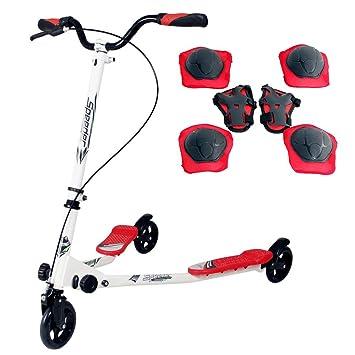 Single@Scooter patinete de 3 rueda plegable ajustable