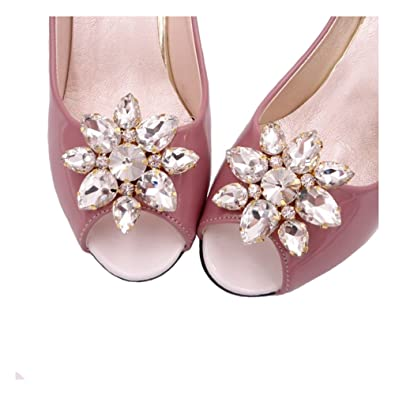 Santfe rhinestone crystal shoes clips wedding party shoes decoration santfe rhinestone crystal shoes clips wedding party shoes decoration accessories high heel shoe buckle clips junglespirit Choice Image