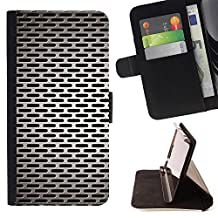 Planetar Colorful Pattern Flip Wallet Leather Holster Protective Skin Case Cover For APPLE iPhone SE / iPhone5 / 5S ( Steel Gate Closed Silver Microphone )