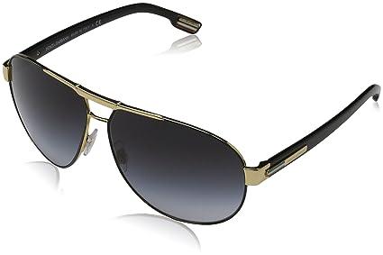 7137f77c3fe Image Unavailable. Image not available for. Colour  Dolce   Gabbana Men s  Gradient DG2099-10818G-61 Gold Aviator Sunglasses