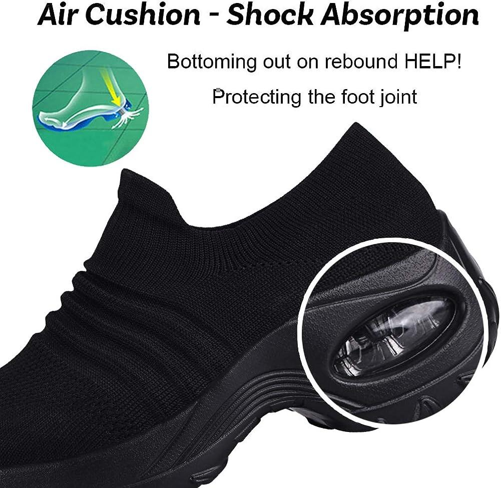 DierCosy Nursing Shoes for Women Black