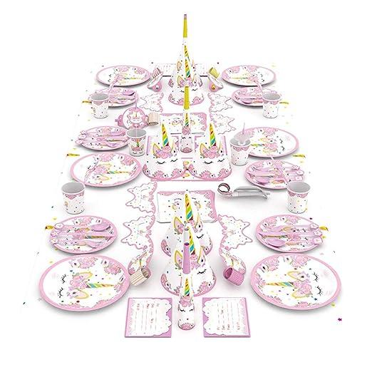 Surenhap Juego de Fiesta Unicornio decoración de cumpleaños ...