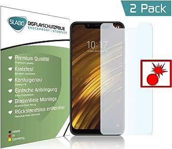 Slabo 2 x Protector de Pantalla blindado para Xiaomi Pocophone F1 | Poco F1 Shockproof A Prueba de Golpes: Amazon.es: Electrónica