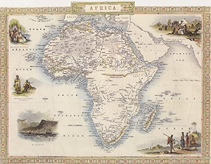 Map Of Africa In 1800.Amazon Com Map 1800 Africa African People Arab 16 X 24 Vintage