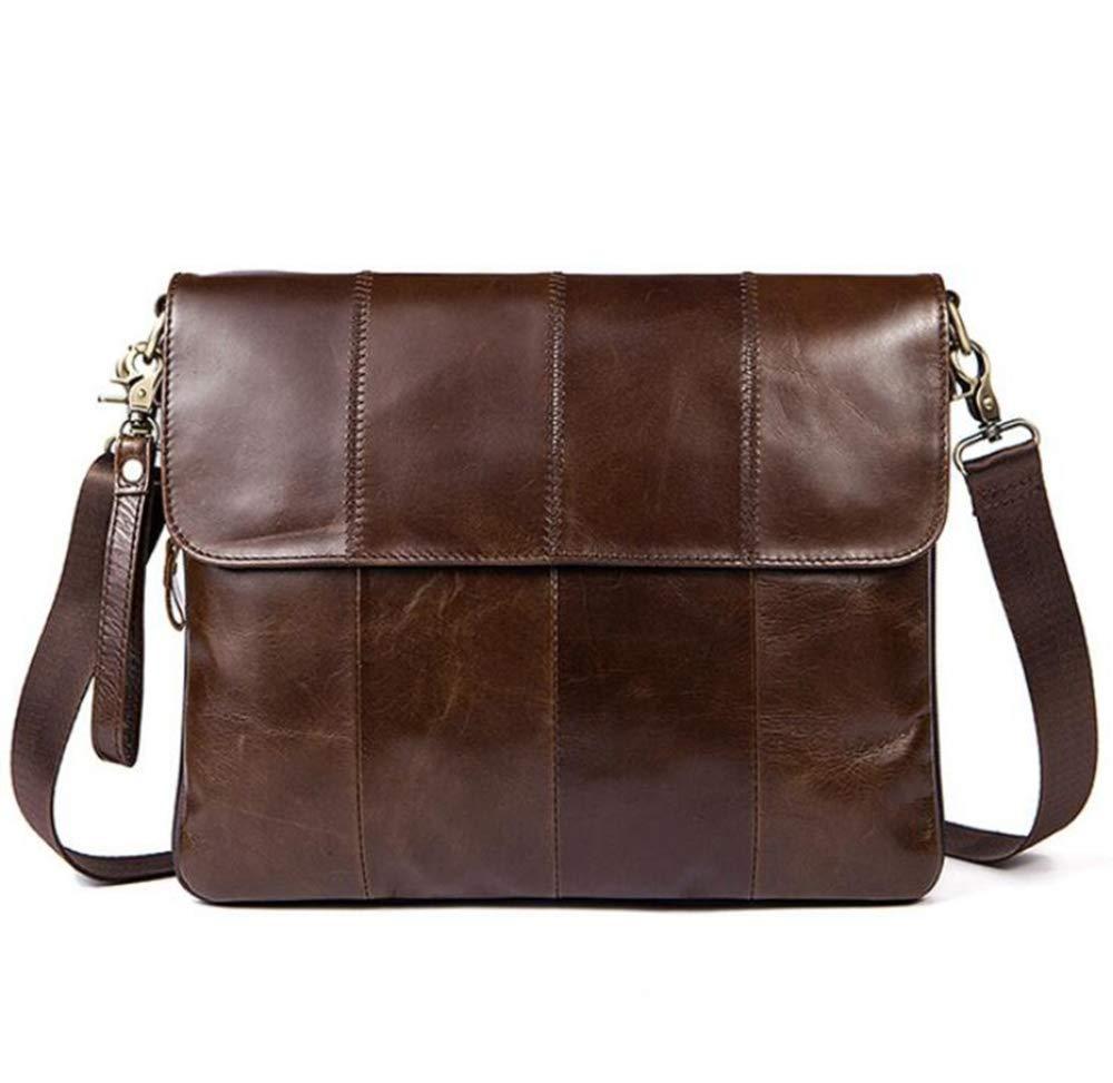 Sxuefang Mens Shoulder Bag Mens Messenger Bag Leather Mens Bag Business Flip Man Shoulder Bag Crossbody Bag 33x2.5x22.5cm