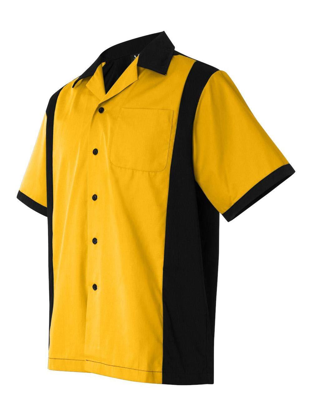 Hilton HP2243 Men's Cruiser Bowling Shirt Gold Small by Hilton