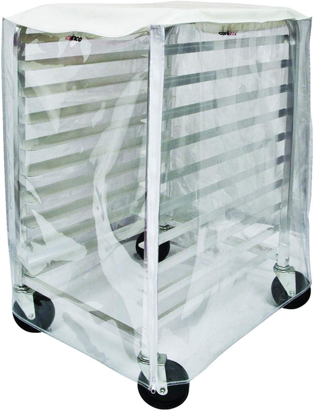 Winco ALRK-10-CV Cover for 10-Tier Sheet Pan Rack ALRK-10 and ALRK-10BK,Clear,Medium