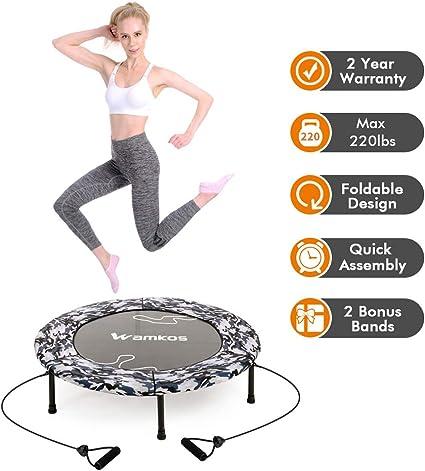 Amazon.com: Wamkos - Mini trampolín de ejercicios para ...