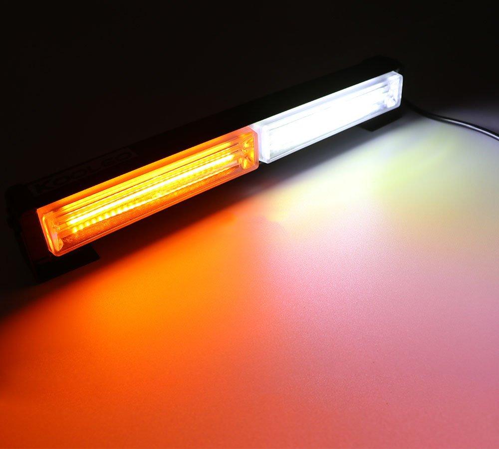 HEHEMM Led Frontblitzer 36W COB 12-24V Blitzleuchte LED Strobe Light Notfall Hazard Achtung Blinklicht Bar LKW Led Warnleuchte Bernstein Auto Blitzer Led
