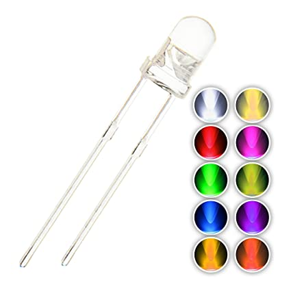 100pcs 5mm Led Diode 5 Mm Assorted Kit White Green Red Blue Yellow Diy Light Emitting Diode Active Components Diodes