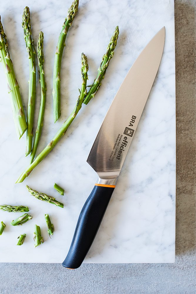 Bra Efficient Cuchillo Cocinero, Acero Inoxidable, Gris, 3x5x32 cm