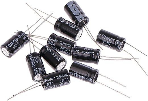 Condensador electrol/ítico 10 Unidades, 25 V, 1000 uF, 105 /°C, Aluminio, /± 20/% FXCO