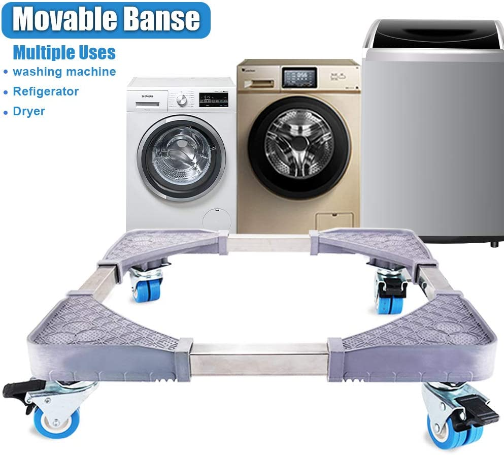Mobile Roller 8 Foot Dolly Washing Machine Stand Refrigerator Base Moving Cart T