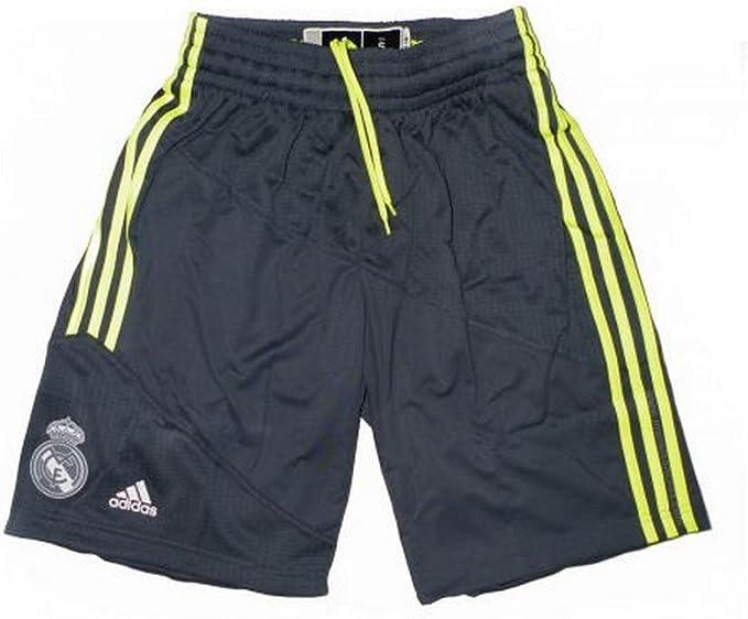 adidas RM Short - Pantalón Corto Real Madrid de Baloncesto 2015-2016 para Hombre, Color Gris/Amarillo, Talla S: Amazon.es: Ropa y accesorios