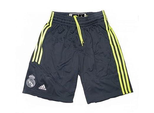 bcade5c4 adidas RM Short - Pantalón Corto Real Madrid de Baloncesto 2015-2016 para  Hombre, Color Gris/Amarillo, Talla S: Amazon.es: Ropa y accesorios