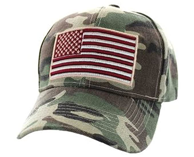 15d5abd124a0d USA Dad Hat American Flag Camo Camouflage Army Military Tactical Hunting  Cap Red (One Size