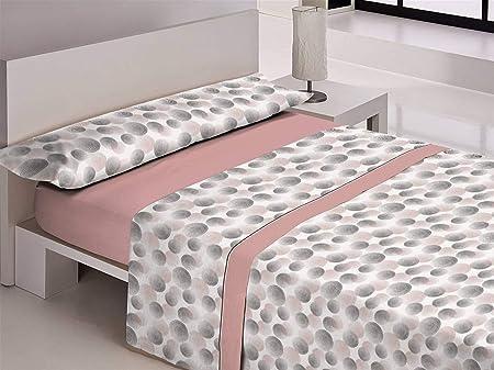 Libela LUARCA Juego de sábanas, Polialgodón, Rosa, Cama 135 cm: Amazon.es: Hogar