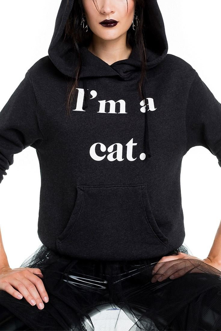 Wildfox Guess What I Am Cuddles Cat Hoodie - Black - S