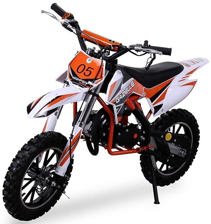 Niños Mini Moto Cross Gazelle 49CC 2-takt INCLUSIVE TUNING EMBRAGUE 15mm CARBURADOR Easy TIRE Iniciar REFORZADO HORQUILLA MOTO DE CROSS DIRTBIKE BOLSILLO ...