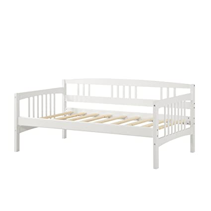 Amazoncom Dorel Living Kayden Daybed Solid Wood Twin White