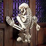 Design Toscano Ascending Evil Climbing Skeleton Wall Sculpture, Brown