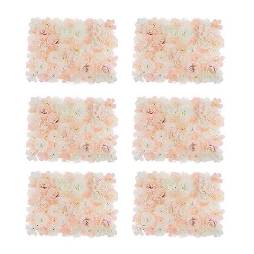 SM SunniMix 6X Panel de Pared de Flores Artificiales Hortensia Estilo Encantador Cautivador Embellecedor