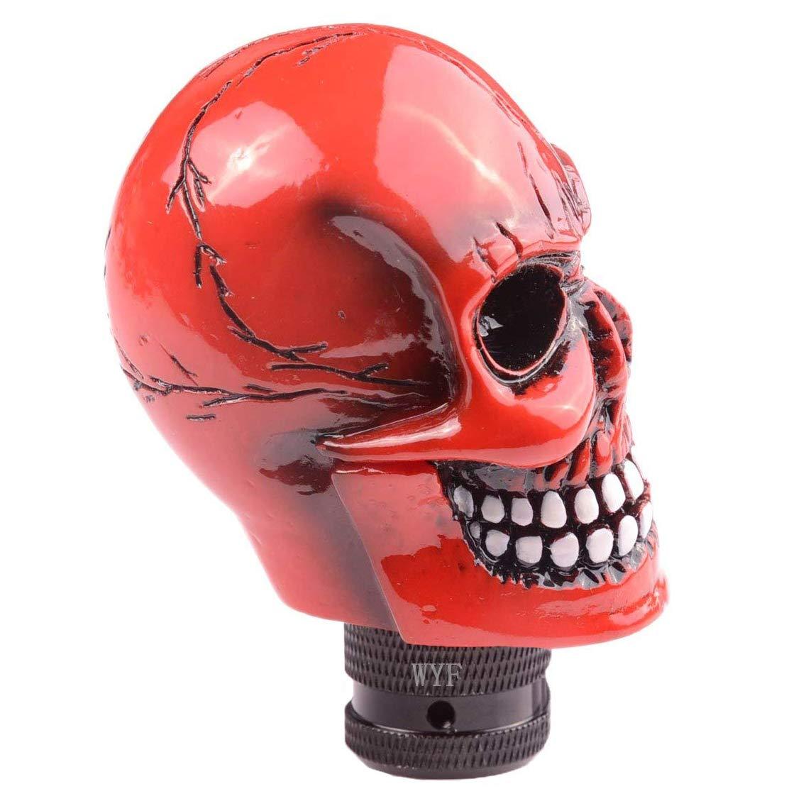 Rot WYF Schaltknauf Sch/ädel Schaltkn/üppel Skull Totenkopf Gie/ßSchaltknauf Schaltknauf WYF Universal Schaltknauf Sch/ädel Schaltkn/üppel Skull Totenkopf Gie/ßharz Gear Shifter Knob