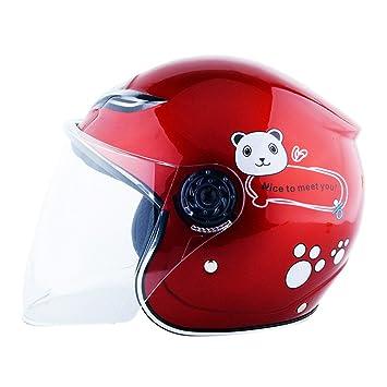 Jipai TM Casco Protector de Bicicleta Moto Para Niños Niñas Chicos Y Chicas En Cuatro Colores