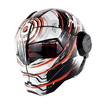 WMING Casco de Motocicleta/Transformadores Retro Harley Que descubren Casco/ Casco de Cara Completa