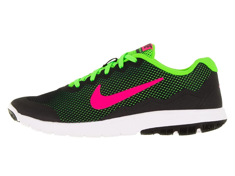 24a1a160ccf96 Nike Women s Flex Experience Rn 4 Black Pink Blast Electric Green White  Running