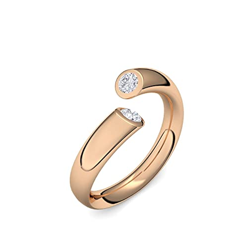 Compromiso anillos de oro rosa de oro Swarovski piedra + estuche! Oro rosa anillo circonios