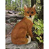 Cheap Design Toscano Woodie the Woodland Fox Garden Animal Statue, 14 Inch, Polyresin, Full Color