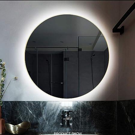 Specchio Bagno 80 X 70.80 Cm 60 Cm Specchio Da Bagno Rotondo Con Luce A Led Illuminata A