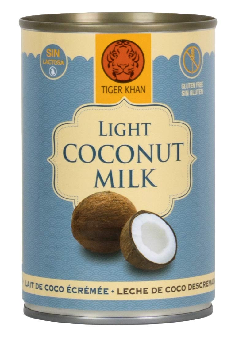 TIGER KHAN Leche de Coco Light 400ml | Pack de 12