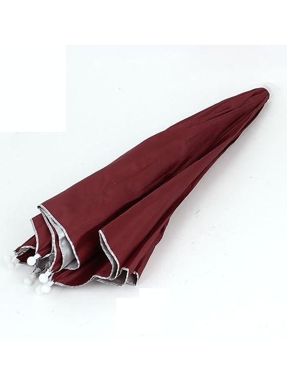 Amazon.com : eDealMax Rojo plegables Manos libres Headwear del Sombrero de paraguas Para la Pesca Pesca : Sports & Outdoors