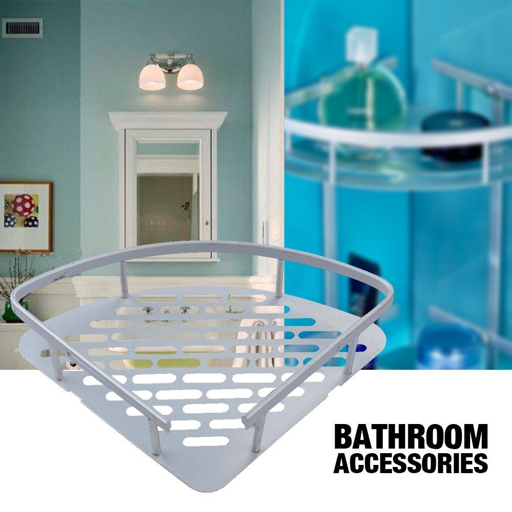 Amazon.com: Bathroom Shelf,Triangular Durable Aluminum 3 tiers Wall ...