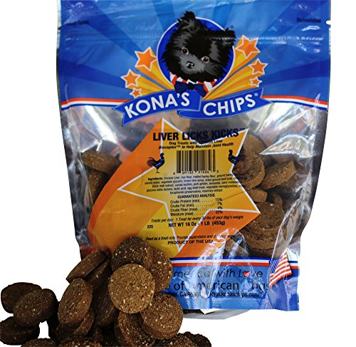 KONAS-CHIPS-Liver-Licks-KICKS-Liver-Dog-Treats-Chews-with-Natural-Joint-Pain-Relief-for-Dogs-Natural-Glucosamine-for-Dogs-and-Chondroitin-1-lb-Bag-Dog-Treats-Made-In-USA-ONLY
