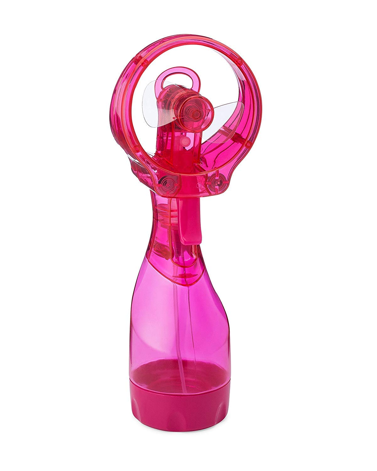 O2COOL FML0001 Deluxe Handheld Battery Operated Misting Fan, 2, Raspberry