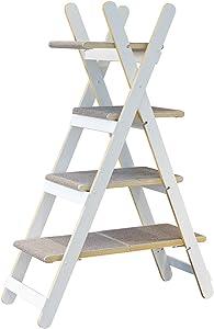 zoovilla Modern Folding Cat Tree Cat Furniture, Cat Toy, Cat Tower, White