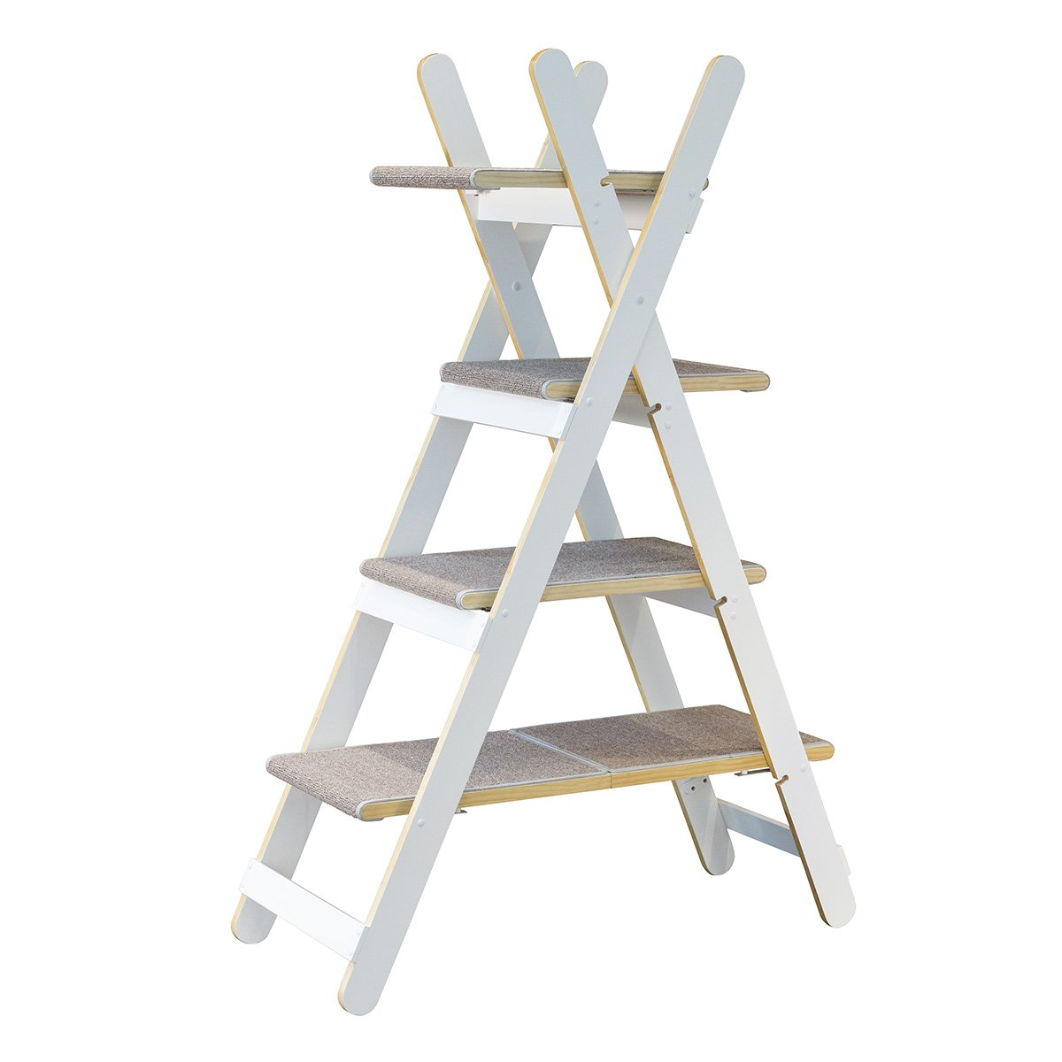 chic zoovilla TOY0091720110 Modern Folding Cat Tree, White