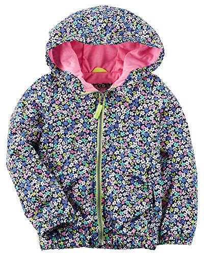 Carter's. Girls' Jersey Lined Outerwear Jacket (4, Ditsy Floral)