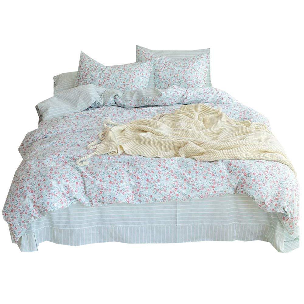 Amazon Com Amwan Fresh Flower Cotton Duvet Cover Set Twin Kids