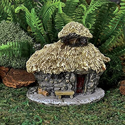 Georgetown Miniature Fairy Garden Micro Mini Thatched Roof Troll House