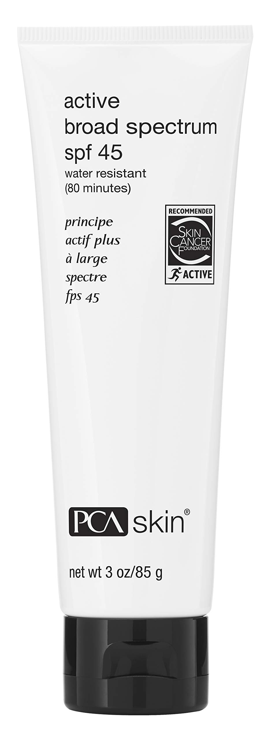 PCA SKIN Active Broad Spectrum SPF 45: Water Resistant, Zinc Oxide Sport Sunscreen, UVA/UVB Protection, 3 fluid ounce