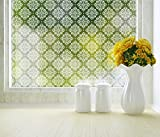 Damask Adhesive Privacy Film 18x48 inch