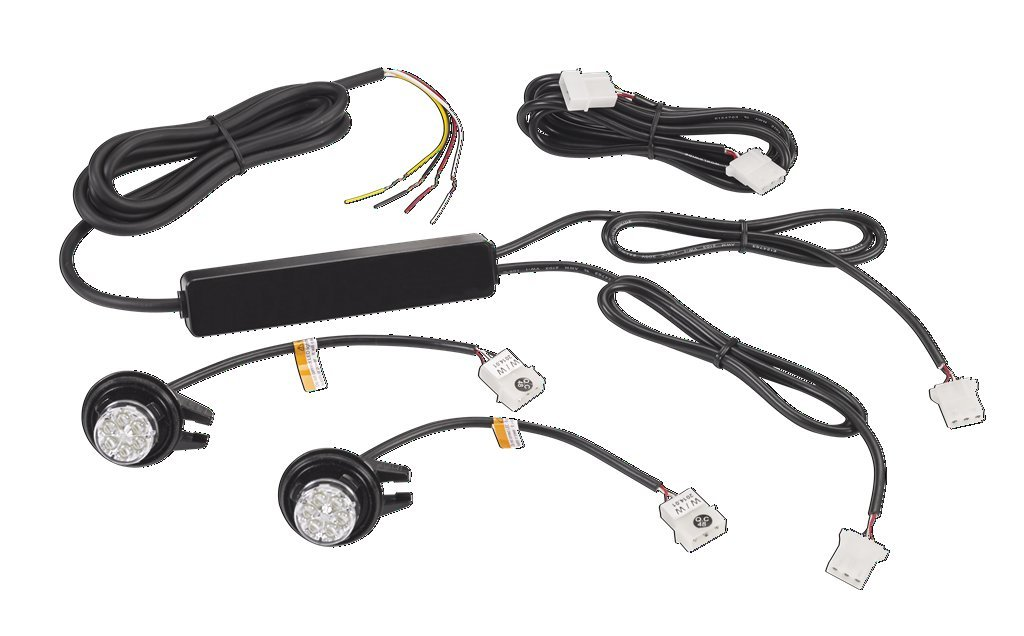 Federal Signal 416800-BWBW Twist-N-Lock Corner LEDs, Blue and White LEDs