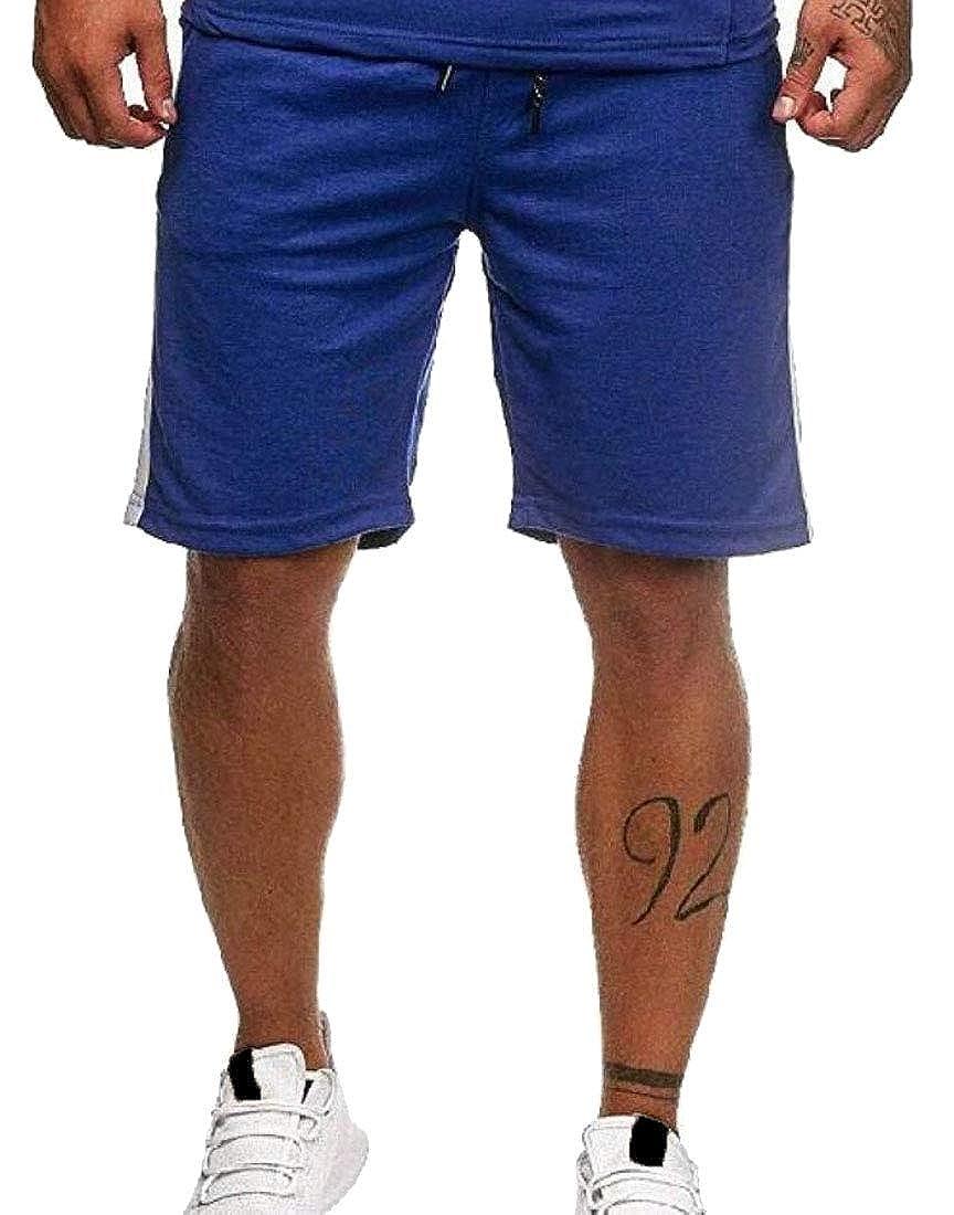 Mens Shorts Drawstring Summer Beach Shorts with Elastic Waist and Pockets
