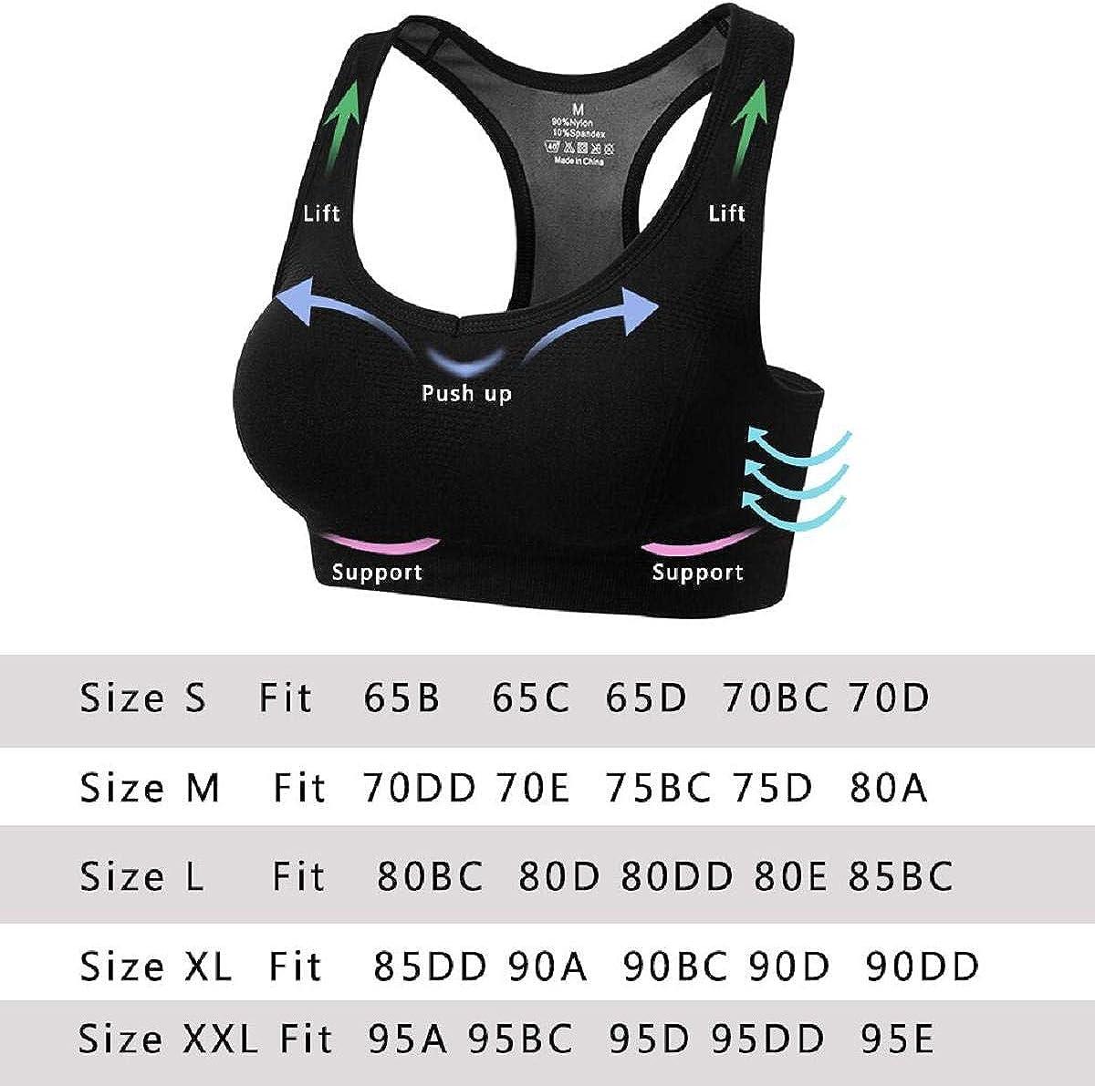 c/ómodos Suave y Almohadillas Extra/íbles,Bra Deporte sin Costuras para Yoga//Fitness//Run//Ejercicio Abollria Sujetador Deportivo para Mujeres
