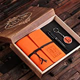 Personalized 4 pc Womens Gift Set with Keepsake Box with Journal Key Chain Pen Available in 12 Colors